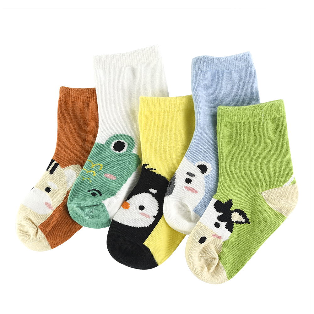 5Pair/lot Soft Cotton Kids Socks Baby Mesh Breathable Cartoon Boys Girls Sock Autumn Winter For Children Gifts Toddler Clothes