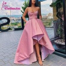 Асимметричные вечерние платья Атласное Платье De Soiree милое вечернее платье