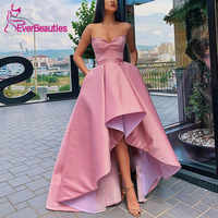 Asymmetrical Evening Dresses Satin Robe De Soiree 2019 Sweetheart Evening Party Dresses Formal Dress