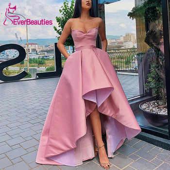 Asymmetrical Evening Dresses Satin Robe De Soiree 2019 Sweetheart Evening Party Dresses Formal Dress - DISCOUNT ITEM  32% OFF Weddings & Events