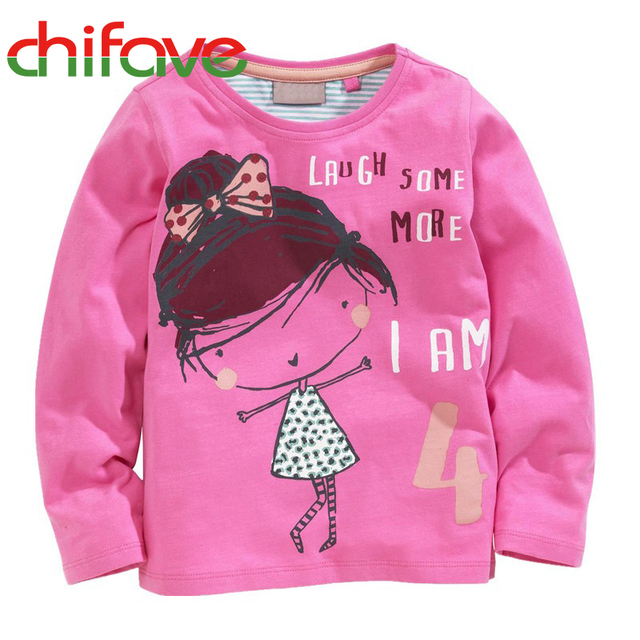 2016 New Spring Autumn Unisex T-shirt Clothes Long Sleeve Character O-neck Pullover Boys Girls Top T-shirt 2-7 years old Kids