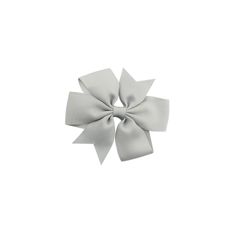 40 цветов сплошная корсажная лента банты заколки шпилька девушка бант для волос, бутик заколки для волос аксессуары для волос - Color: a25 Dark Grey