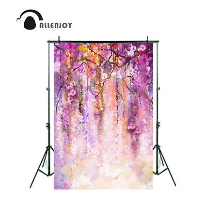 Allenjoy Photography background colorful flowers vines natures children girl digital computer printed backdrops