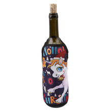 2018 New Unicorn Christmas Bottle Cover For Christmas Home Decoration Wine Bottle Bottle Sets Xmas Party Supplies IC894491