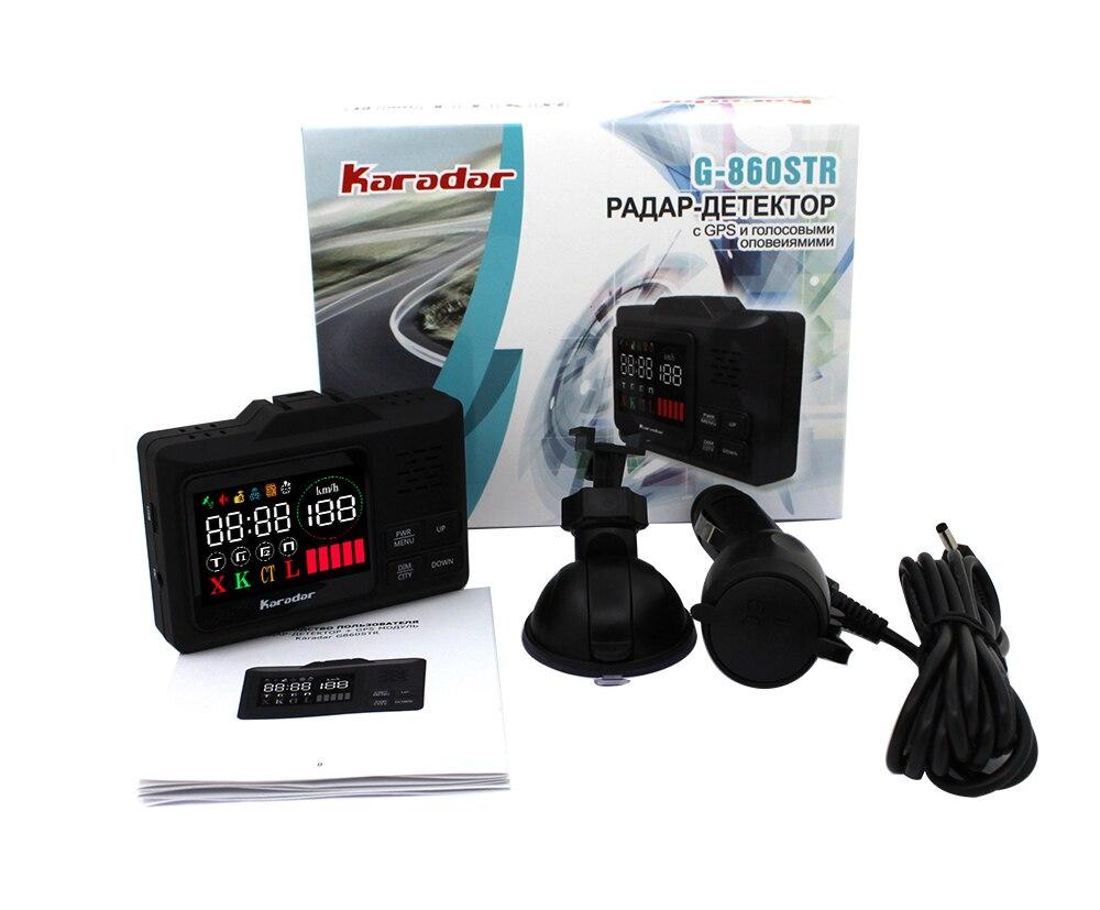 Karadar Voiture GPS anti détecteur de radar 2 dans 1 Police Vitesse GPS pour Russe led Affichage 360 Degrés X K CT L avec 2.4 pouces d'affichage - 2