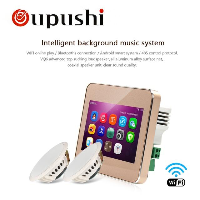 OUPUSHI A5 de Audio visual en fondo de pared controlador de música Bluetooth digital de cine en casa cine Sistema de oficina en casa Hotel Store
