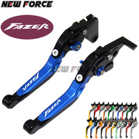 For Yamaha FZS 600 FZS600 Fazer 1998 2003 1999 2000 2001 2002 Red+Black CNC Motorcycle Accessories Adjustable Brake Clutch Lever