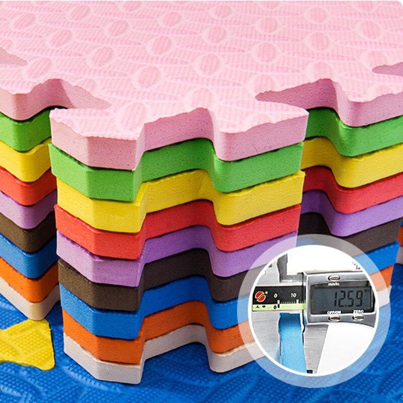 JCC mélange feuille motif Puzzle EVA mousse bébé tapis de jeu/enfants tapis de verrouillage exercice plancher pour enfants carreaux 60*60*1.2 cm - 5