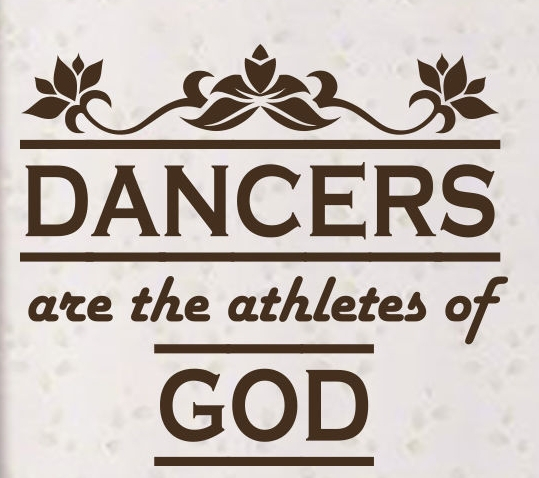 Dance Wall Decal Sport Quote Dancer Are Athletes Mural Wall Sticker