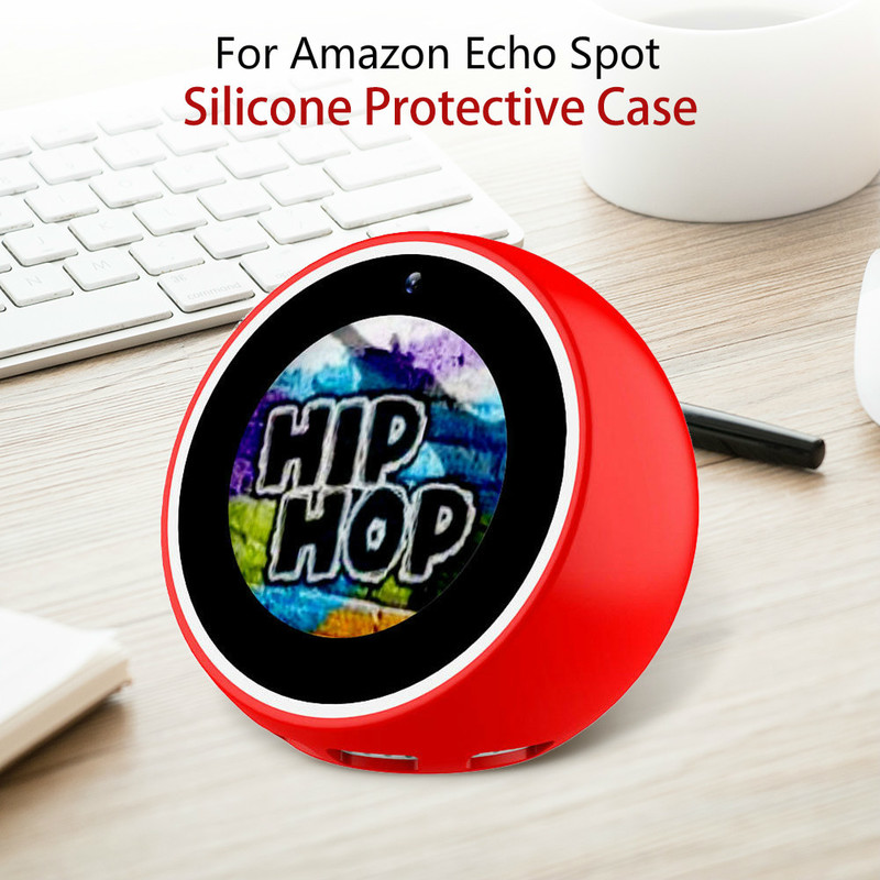 Silicone Protector Case Anti-Scratch Anti-dust Durable Precise Hole Position Protection Accessories For Amazon Echo Spot