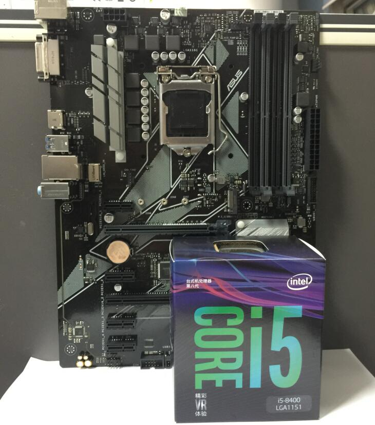 Asus PRIME Z370-P Desktop Motherboard LGA 1151 With I5 8400 I5-8400 Generation 8 Boxed CPU Combination package DDR4