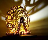 3D Hollow Ferris wheel Handmade Luminous card Greeting Cards Model For Wedding Party Gift Craft Diy