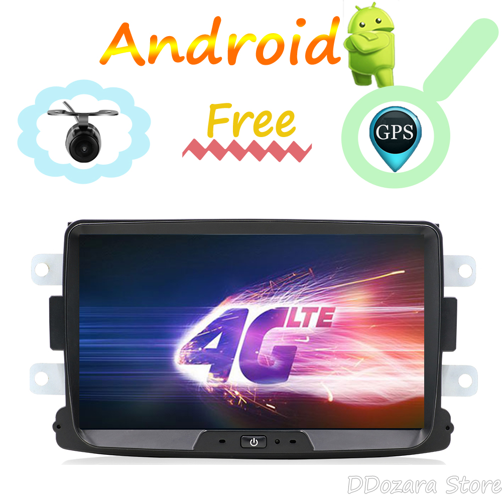 IPS Car Multimedia radio player de Rádio Android 8.0 GPS Para Duster/Captur/Lada/Xray 2/Logan 2/Dacia/Sandero estéreo