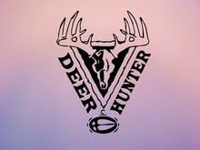 Wall Decal Sticker Room Deer Hunter Man Cave Hobby Deer Horns Hunting