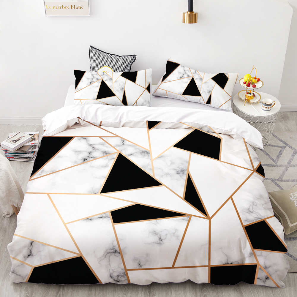 Znalezione obrazy dla zapytania 3D HD Digital Printing Custom Bedding Set,Duvet Cover Set Double Queen Cal King,Wedding Bedclothes Black Marble Drop Shipping