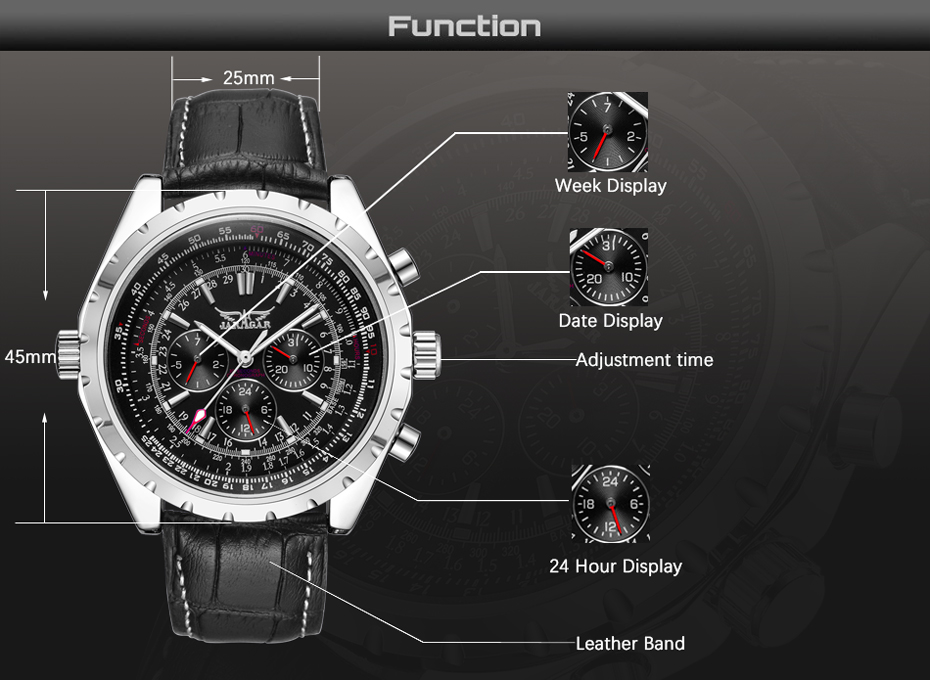 HTB1dsEZeXooBKNjSZPhq6A2CXXaP JARAGAR Top Luxury Brand Men Watch Mens Fashion Mechanical Watches Man Casual Business Waterproof Wristwatch Relogio Masculino