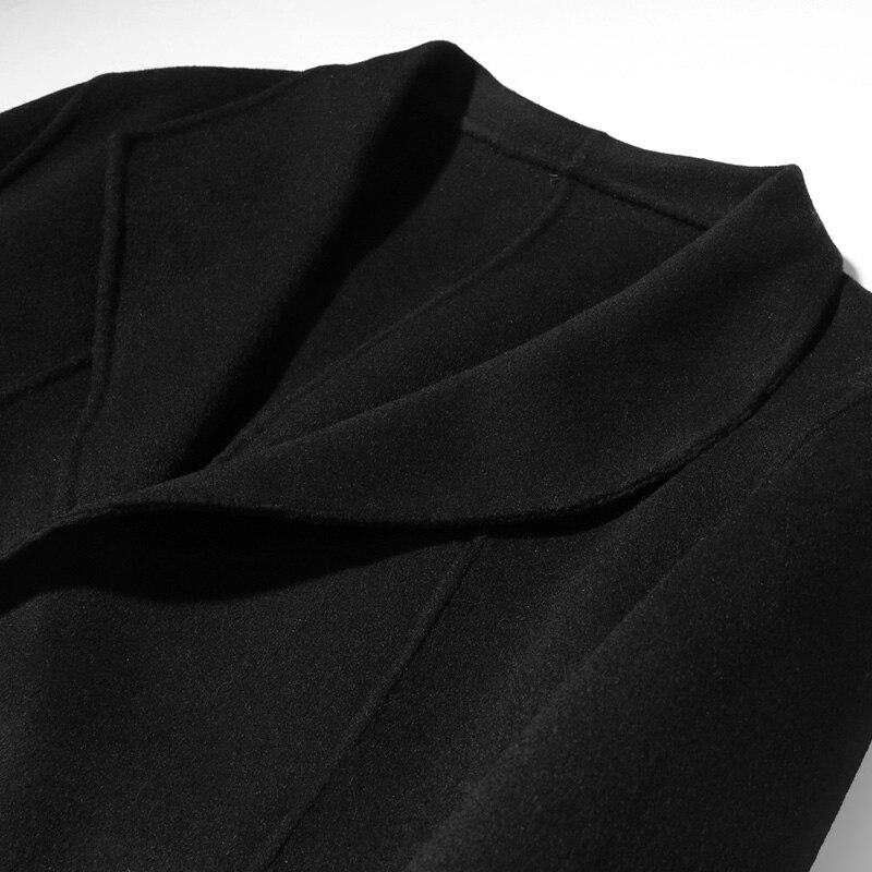 Ayunsue Double Abrigo Manteau Manteaux Hombre Hommes De Et Laine Long Kj1490 Black face Vestes Maison Printemps Automne XlwkTZOPiu