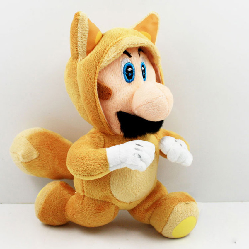 Super Mario Плюшевые серии Бег Марио 21 см Плюшевые игрушки peluche Игрушечные лошадки Куклы подарки для детей Бесплатная доставка ...