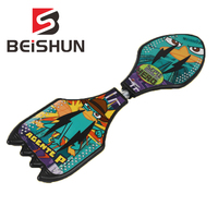Vitality Board Plastic Skateboard Children's New Wear resistant Flash Wheel Tour Dragon Board Scooter