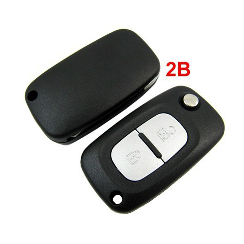 Remote Key Case For Renault Clio Megane Kangoo Modus 2 Button Fob Flip