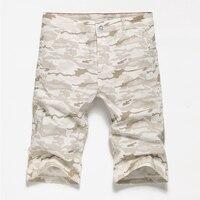 2018 estilo verão masculino camuflagem shorts da carga Dos Homens casuais capris Reta na altura do joelho calções de praia aptidão Impresso bermuda homme