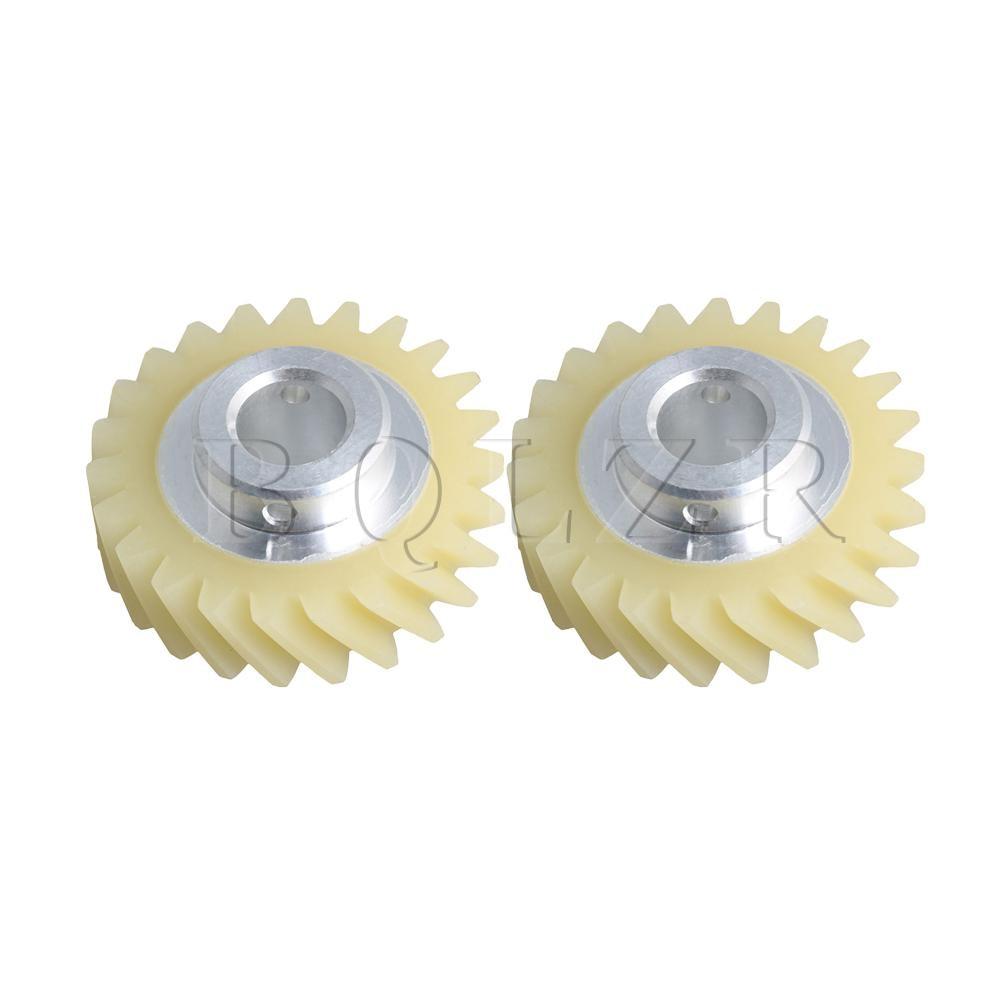 BQLZR 36.5mm W10112253 Mixer Worm Gear Replace Part 4161531 AH1491159 Set Of 2