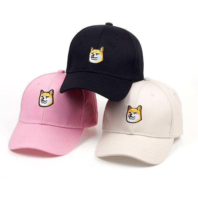 LiebenswüRdig 2018 Neue Stickerei Brennholz Hund Ausdruck Dad Cap Männer Frauen Mode Sommer Hip-hop-baseballmütze Hüte