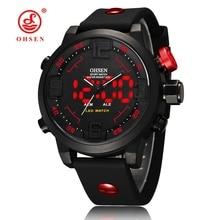 Silicone Homme Sport Montre Étanche Ronde Quartz Analogique Numérique Haute Qualité Montre Marque Militaire Casual Horloge reloj hombre