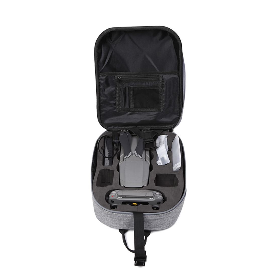 HONNYINRC for DJI MAVIC 2 PRO/MAVIC 2 ZOOM Drone PC Hard Shell Strong Cover Storage Bag Back pack Case - Black New Arrival case for huawei honor 7x shockproof with stand 360 rotation back cover contrast color hard pc