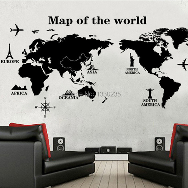 Hot wall decal sticker house baby kid room decor diy removable world hot wall decal sticker house baby kid room decor diy removable world map cartoon wallpaper wall gumiabroncs Image collections