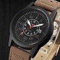 2016 Clássicos Do Vintage Relógio À Prova D' Água Data Pulseira De Couro Do Esporte de Quartzo dos homens Do Exército relógio de Pulso relogio masculino