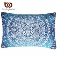 BeddingOutlet Marroquí Funda de Almohada Cristal Conjuntos ropa de Cama Azul Mandala Impreso Funda de Almohada Suave Almohada Cubierta 50×75 cm 50×90 cm