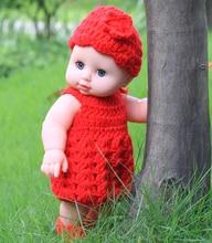 Blink Eyes 30cm Lágy Vinyl Újjászületett Baby Babák Ruhával Lifelike Newborn Doll Girl Karácsonyi ajándékok
