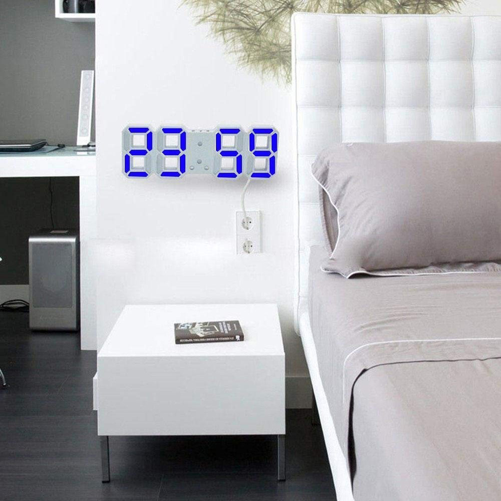 Modern Wall Clock Digital 3D LED Table Lamp Clock Watches 12/24 Hours Display Mechanism Alarm Snooze Desk Alarm Clock Light USB 3d diy wall clock large table clock led digital automatic sensor light jumbo wall clock huge screen display white