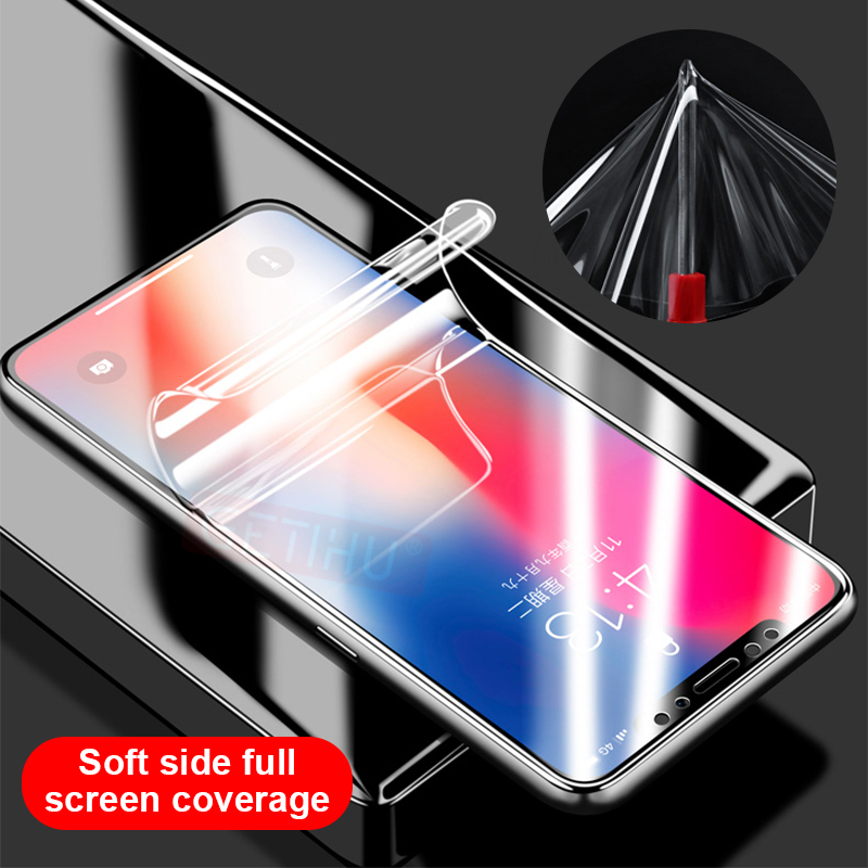 GETIHU Screen Protector Full Flim Glass on For iPhone X Xs MAX XR 8 7 6s 6 S Plus Screen Protect Glass Flim Not Tempered Glass in Phone Screen Protectors from Cellphones Telecommunications