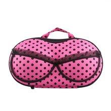 Wholesale 10* Portable Organizer Case Bag for Underwear Lingerie Bra Protect EVA Fuchsia