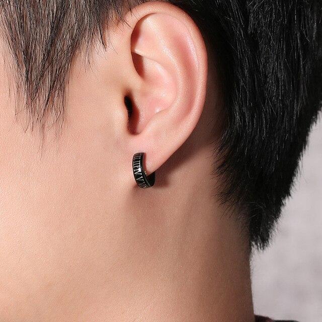 Vnox Punk Black Hoop Earrings for Men Roman Numerals High Quality Stainless Steel Male Jewelry.jpg 640x640 - Vnox Punk Black Hoop Earrings for Men Roman Numerals High Quality Stainless Steel Male Jewelry