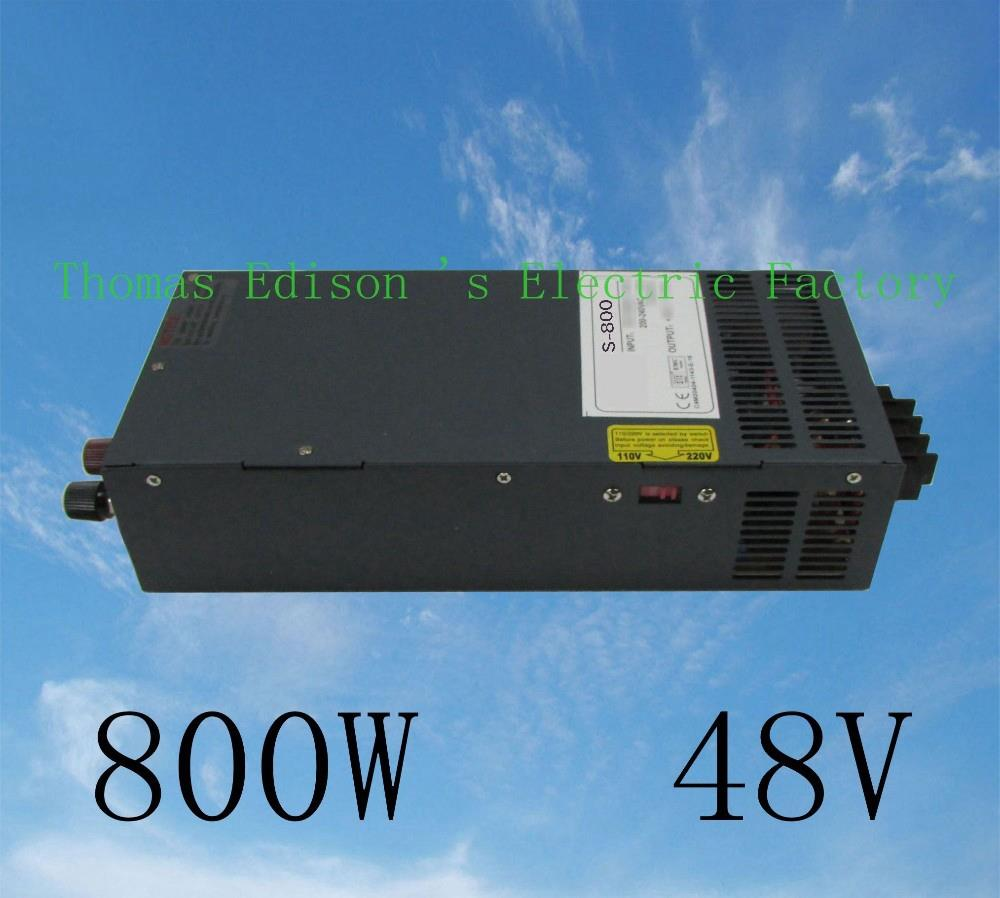DIANQI power suply 48v 800w ac to dc power supply  high quality input 110v 220v output 48v S-800-48 ac dc converter