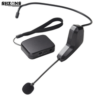 2 4G Wireless Headset Microphone Speech Megaphone Radio Mic To Speaker Meeting Teaching Tour Guide Microfhones