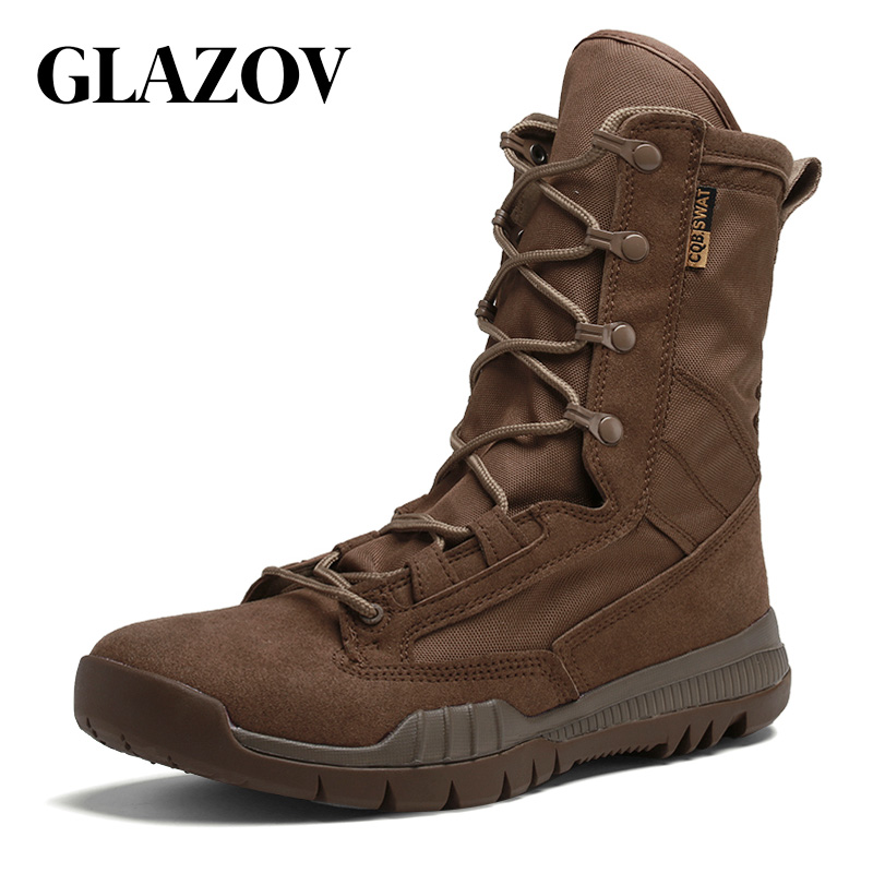 GLAZOV Winter Men Military Boots Quality Special Force Tactical Desert Combat Ankle Boats Army Work Shoes Keep Warm Snow Boots все цены