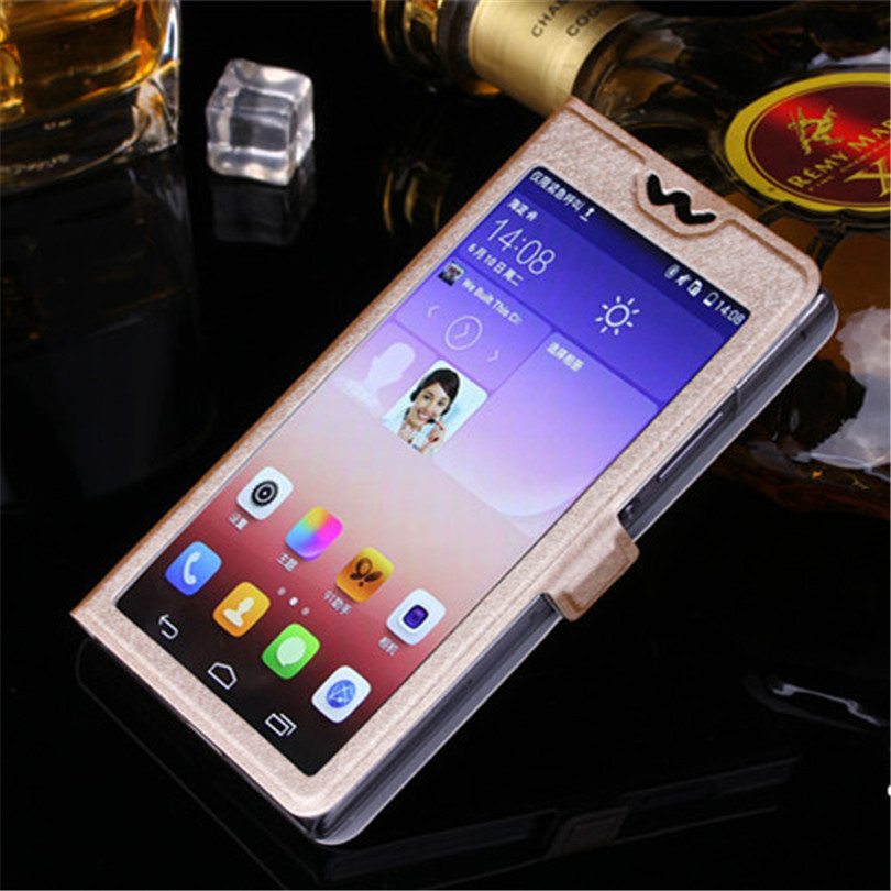 5 Colors With View Window Case For Lenovo A820 Luxury Transparent Flip Cover For Lenovo A 820 Mobile Phone Bag Case in Flip Cases from Cellphones Telecommunications