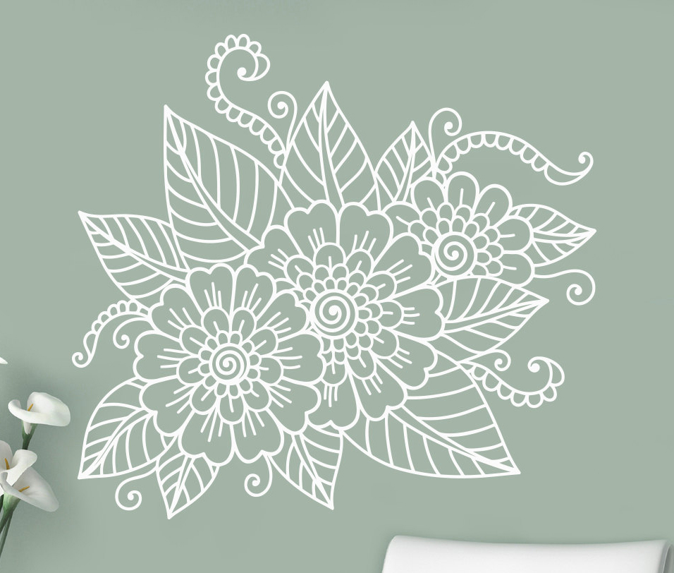Mehndi Flower Wall : Paisley wall decals reviews online shopping