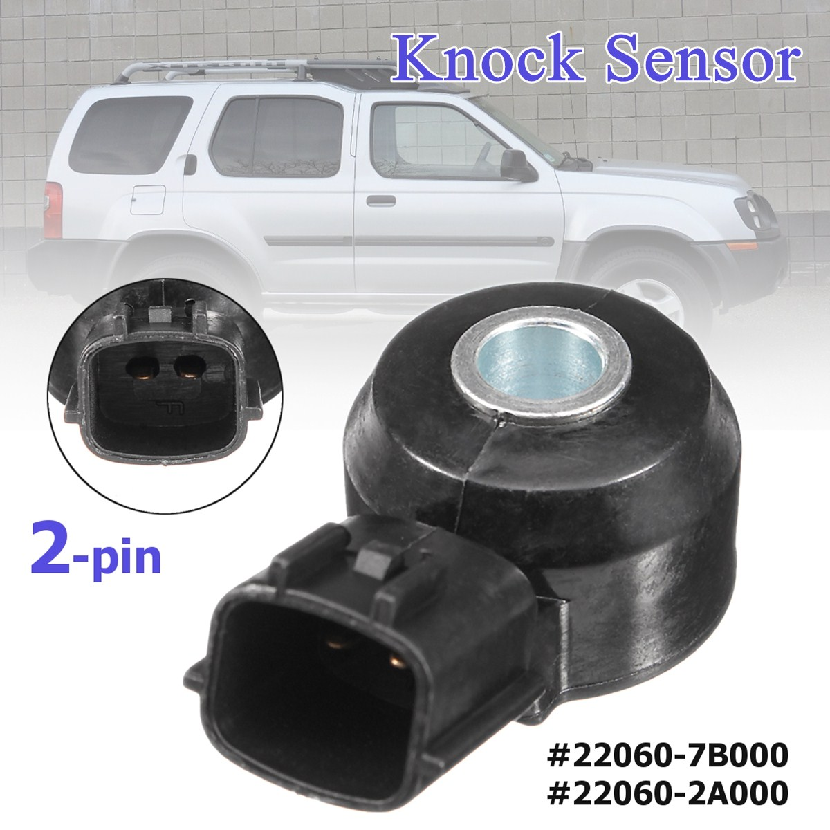 #22060-7B000 #22060-2A000 2-pin Knock Sensor For Nissan/Mercury Frontier Xterra Villager Quest 1999 2000 2001 2002 2003 2004