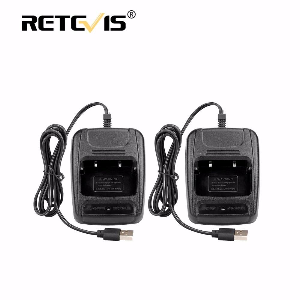 2 pz USB Li-Ion Radio Caricabatteria Ingresso 5 V 1A Per Baofeng BF-bf888S Retevis H777 H-777 Walkie Talkie Caricabatterie USB J9104E