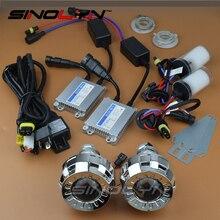 "Car Styling 2.0"" Smallest Micro HID Bi-xenon Headlight Projector Lens LHD RHD Full Kit 4300K 6000K 8000K For Cars/Motorcycle"