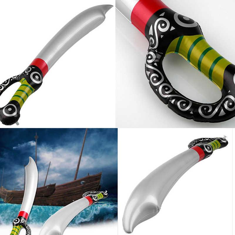 Inflable pirata juguete espada de PVC etapa accesorios inflados niños Cosplay juguetes calientes juego de diversión al aire libre jugando favores de la fiesta de cumpleaños