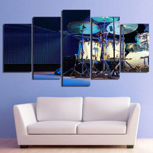 Canvas Wall Art Pictures HD Printed Modular Poster 5 Pieces Modern Living Room Decor Full Set Of Drum In Stage Painting PENGDA(China)