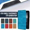 Caso para Paperwhite Kindle $ number ª Generación Antigua Corteza de Cuero Sintético PU con Imán Integrado Características Automático de Despertador/Del Sueño Nuevo