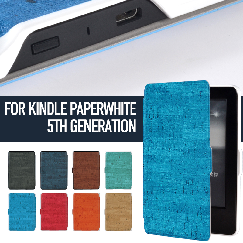 Smart Case cover for Kindle Paperwhite 1 2 3 Antique Bark Synthetic PU Leather with Built-in Magnet Features Auto Wakeup/Sleep pu leather ebook case for kindle paperwhite paper white 1 2 3 2015 ultra slim hard shell flip cover crazy horse lines wake sleep