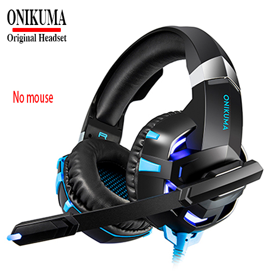 US $19 66 25% OFF|ONIKUMA Headphone For Computer PC Gaming Headset Gamer  Microphone LED lights Casque Earphone ADD USB Luminous Game Optical  Mouse-in